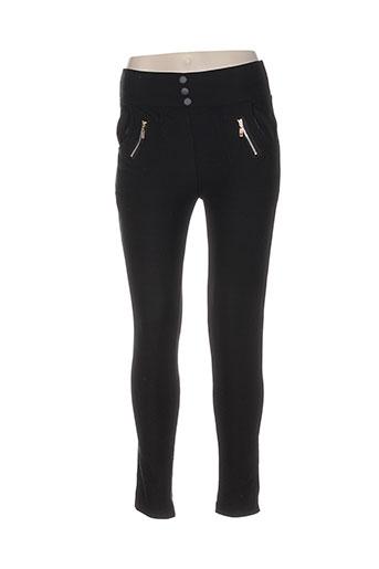 holala pantalons femme de couleur noir