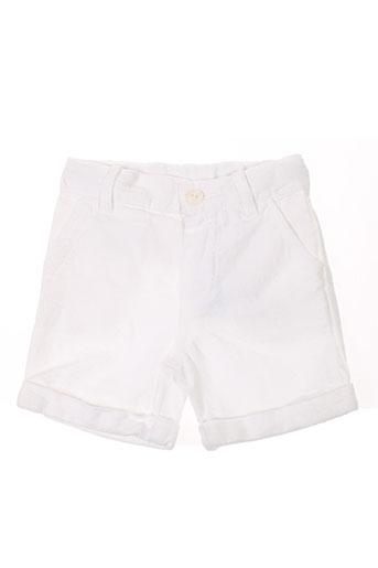marcel et leon shorts / bermudas garçon de couleur blanc