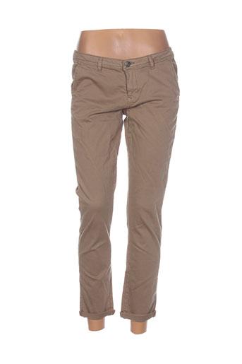 school et rag pantalons et decontractes femme de couleur marron
