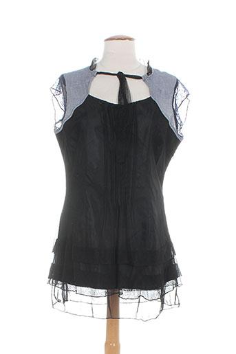 alice et barnabe chemises femme de couleur noir
