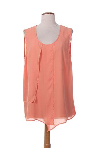 ciso chemises femme de couleur orange