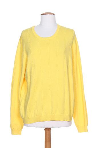 gant pulls femme de couleur jaune