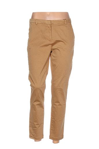 gant pantalons femme de couleur marron