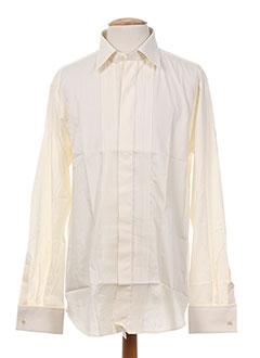 Chemise manches longues beige BM pour homme