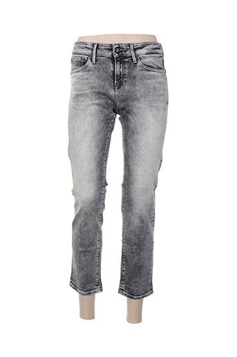 denham pantalons femme de couleur gris