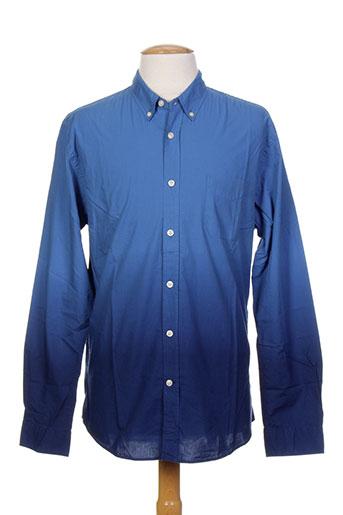 edwin chemises homme de couleur bleu