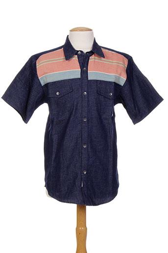 iron and resin chemises homme de couleur bleu