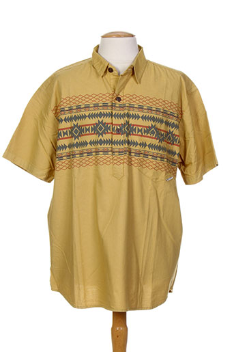 iron and resin t-shirts homme de couleur jaune