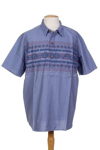 iron and resin t-shirts homme de couleur bleu