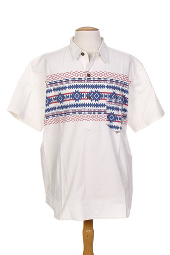 iron and resin t-shirts homme de couleur blanc