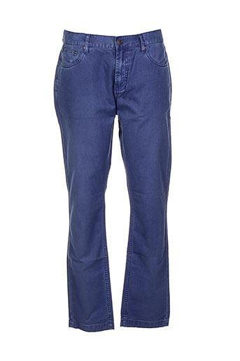 deus ex machina pantalons homme de couleur bleu