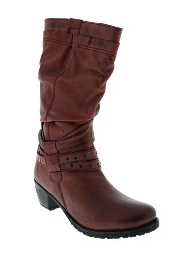 stressless bottes femme de couleur rouge