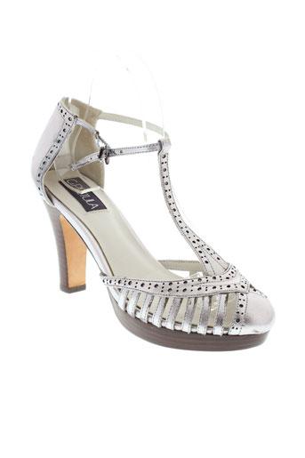 c.petula chaussures femme de couleur gris