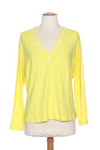 pier bé t-shirts femme de couleur jaune