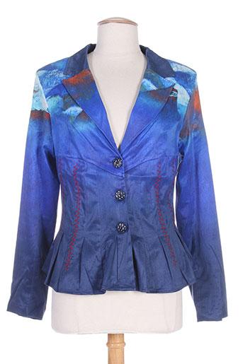 aventures des toiles vestes femme de couleur bleu