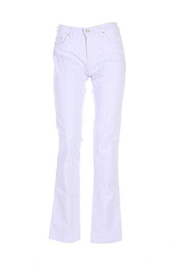 trussardi jeans pantalons femme de couleur violet