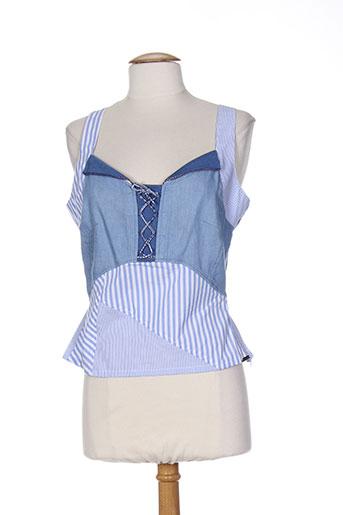 alice et barnabe chemises femme de couleur bleu