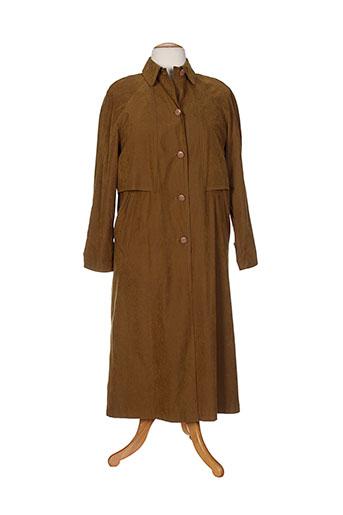 arielle manteaux femme de couleur marron