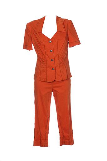 bleu d'azur ensembles femme de couleur orange