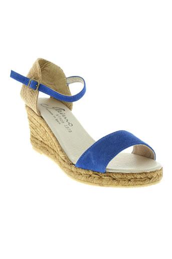 gaimo sandales et nu et pieds femme de couleur bleu