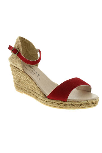 gaimo chaussures femme de couleur rouge