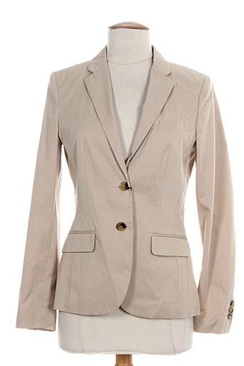 gant vestes femme de couleur beige