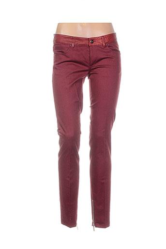 barbara bui pantalons femme de couleur rouge