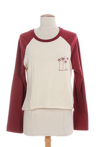 double agent t-shirts femme de couleur rouge