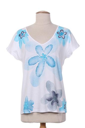 marble chemises femme de couleur bleu