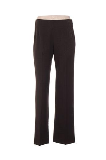 lorena paris pantalons femme de couleur marron