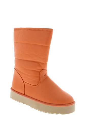 n et m bottes femme de couleur orange