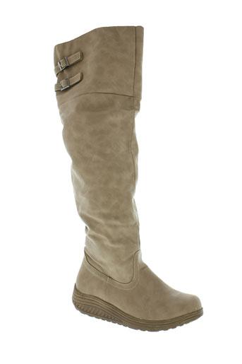 miss et claudine bottes femme de couleur beige