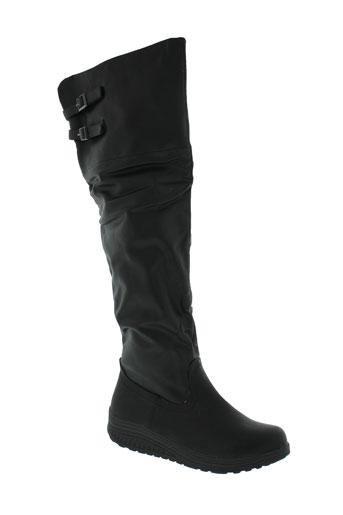miss et claudine bottes femme de couleur noir