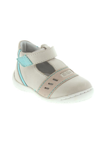 kickers bottillons fille de couleur beige