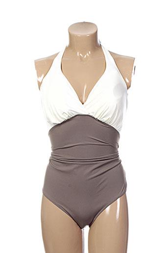 cache coeur maillots de bain femme de couleur marron
