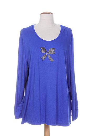 meri EFFI_CHAR_1 esca t-shirts femme de couleur bleu