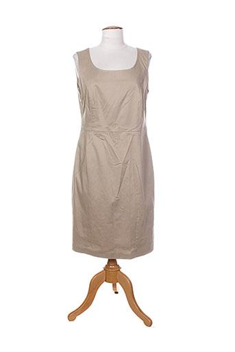 white label robes femme de couleur beige