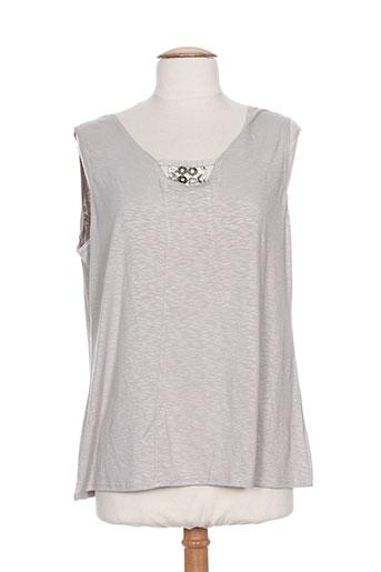 telmail chemises femme de couleur gris