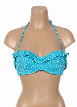 Haut de maillot de bain bleu CLEO BY PANACHE pour femme