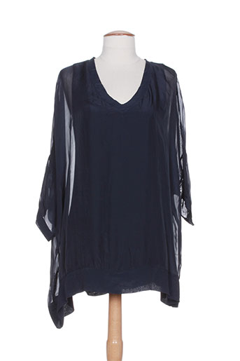 b.yu chemises femme de couleur bleu
