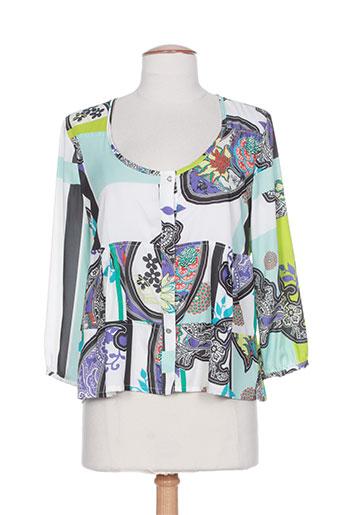 platine collection chemises femme de couleur bleu
