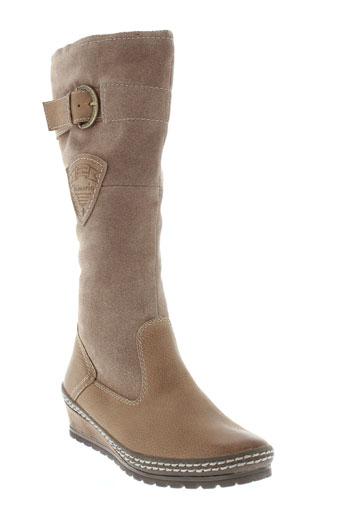 tamaris bottes femme de couleur beige