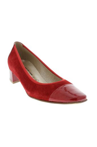 j et metayer escarpins femme de couleur rouge
