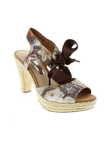 tamaris sandales et nu et pieds femme de couleur marron