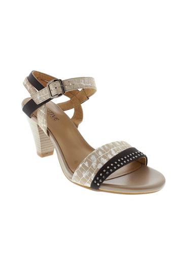 fugitive sandales et nu et pieds femme de couleur beige