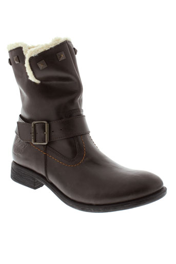 buggy boots fille de couleur marron