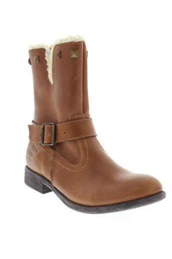 buggy boots fille de couleur beige
