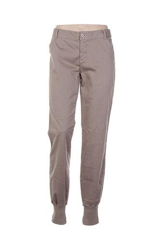 deha pantalons femme de couleur gris