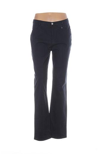 Pantalon casual bleu CARLA pour femme