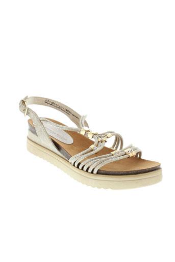 marco et tozzi sandales et nu et pieds femme de couleur beige